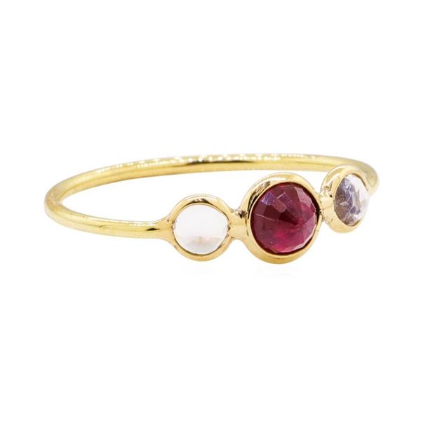 1.20 ctw Ruby and Moonstone Ring - 18KT Yellow Gold