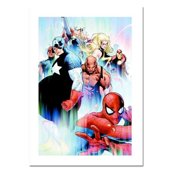 "Marvel Comics, ""Siege #4"" Numbered Limited Edition Canvas by Olivier Coipel with"