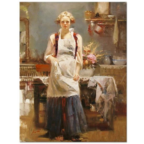 """Pino (1939-2010), """"Warm Memories"""" Artist Embellished Limited Edition on Canvas ("""