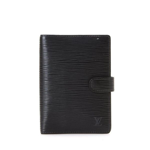 Louis Vuitton Black Monogram Agenda PM Handbag