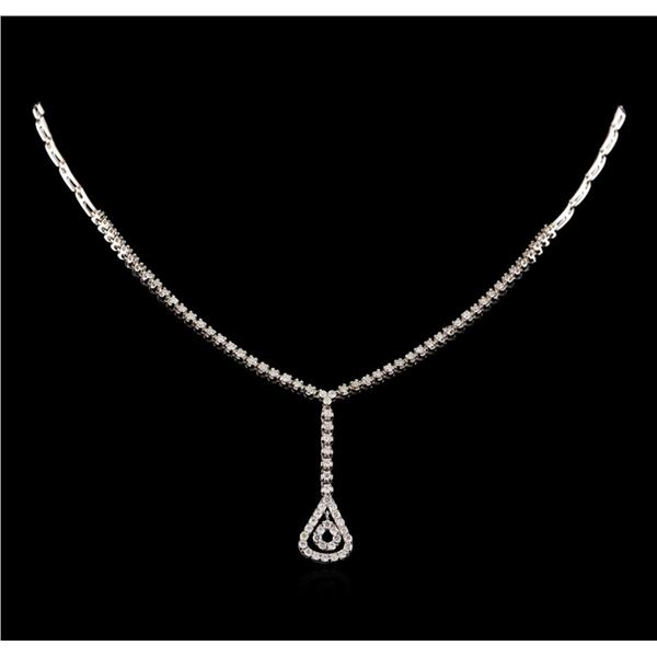 14KT White Gold 1.03 ctw Diamond Necklace