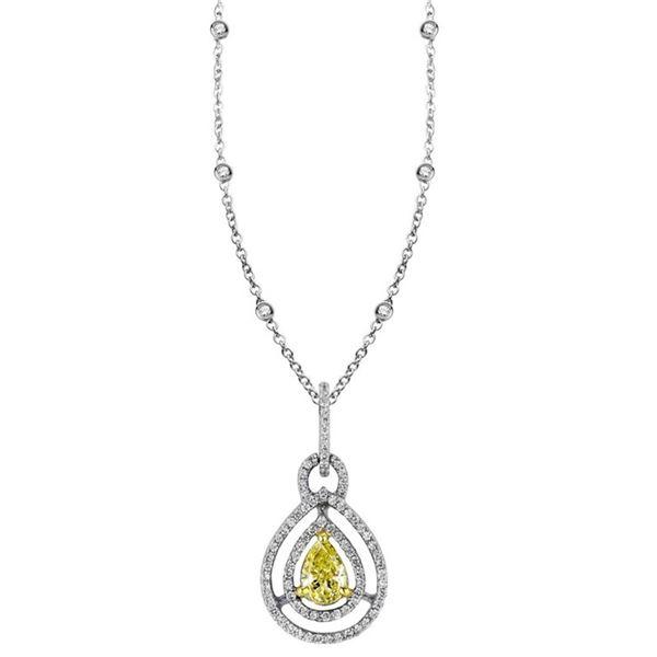 18k Two Tone Gold 0.61CTW Diamond Pendant, (VS1 /VS1-SI1/G-H)