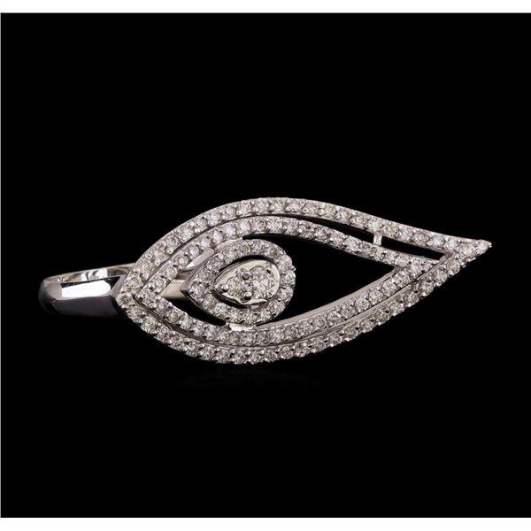 14KT White Gold 0.98 ctw Diamond Ring
