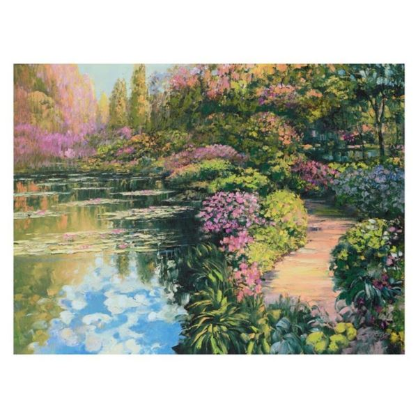 "Howard Behrens (1933-2014), ""Giverny Path"" Limited Edition on Canvas, Numbered a"