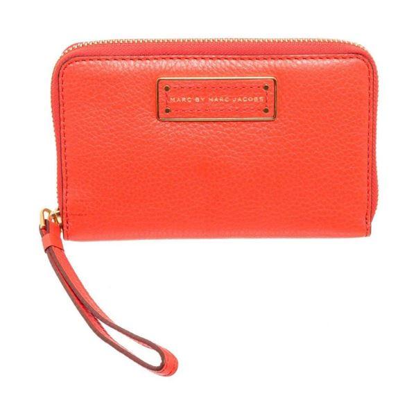 Marc By Marc Jacobs Orange Leather Classic Q Wristlet