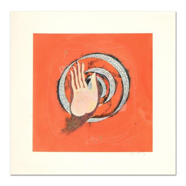 """Lu Hong """"Mudra Abhaya, No Regret"""" Hand Signed Limited Edition Giclee with Letter"""