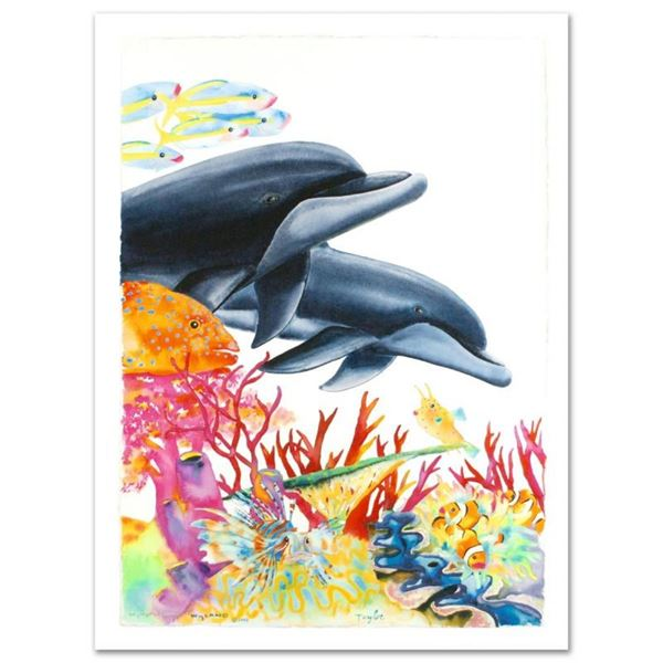 """""""Sea of Color"""" Limited Edition Giclee on Canvas (29.5"""" x 41.5"""") by Wyland, Numbe"""