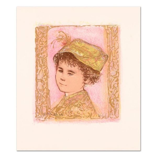 """Edna Hibel (1917-2014), """"Happy"""" Limited Edition Lithograph with Remarque, Number"""