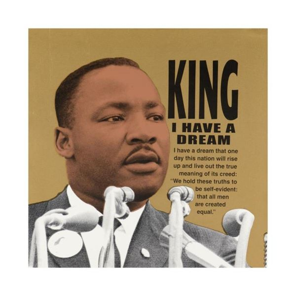 Martin Luther King by Steve Kaufman (1960-2010)