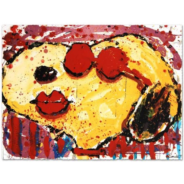 """""""Very Cool Dog Lips in Brentwood"""" Limited Edition Hand Pulled Original Lithograp"""