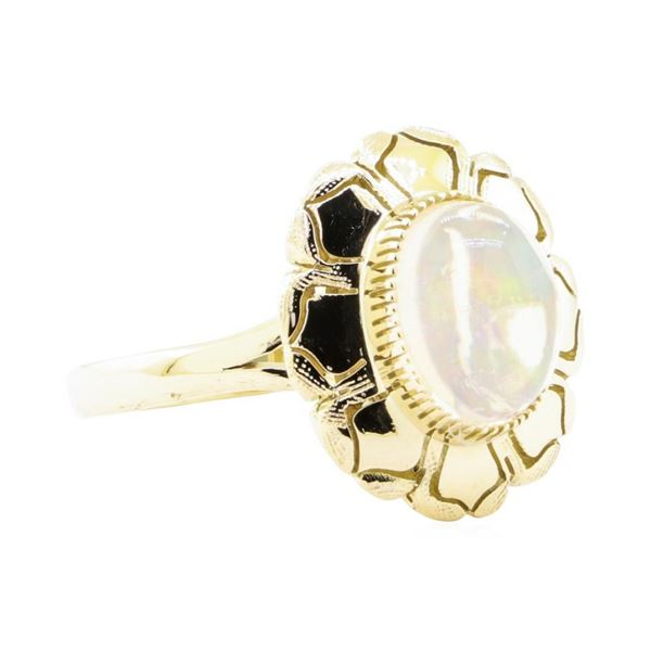 2.50 ctw Opal Ring - 14KT Yellow Gold