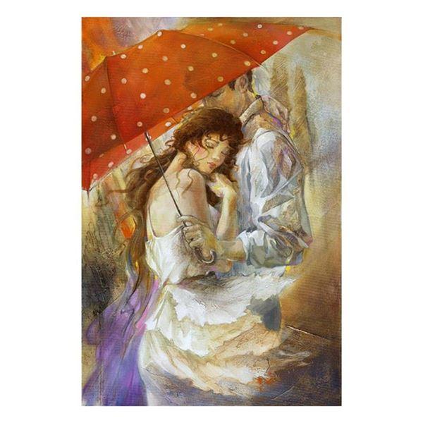 "Lena Sotskova, ""Cherish"" Hand Signed, Artist Embellished Limited Edition Giclee"