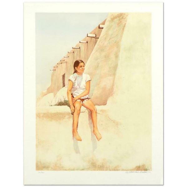 """William Nelson, """"Isleta Indian Girl"""" Limited Edition Lithograph, Numbered and Ha"""