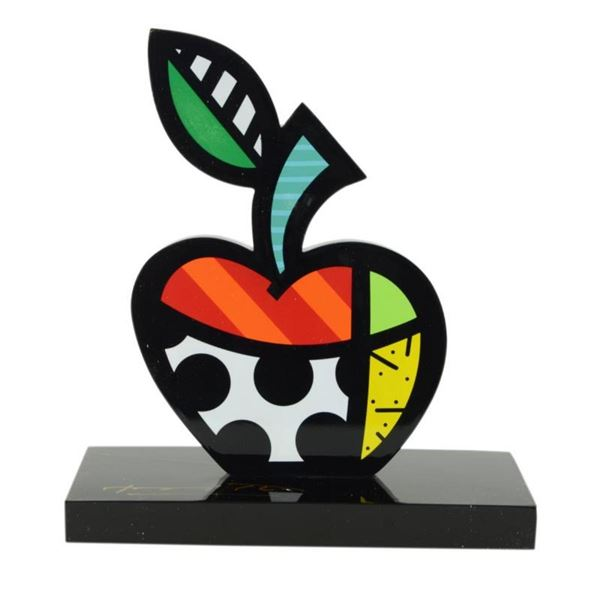 """Romero Britto""""Big Apple II"""" Hand Signed Limited Edition Sculpture; Authenticated"""