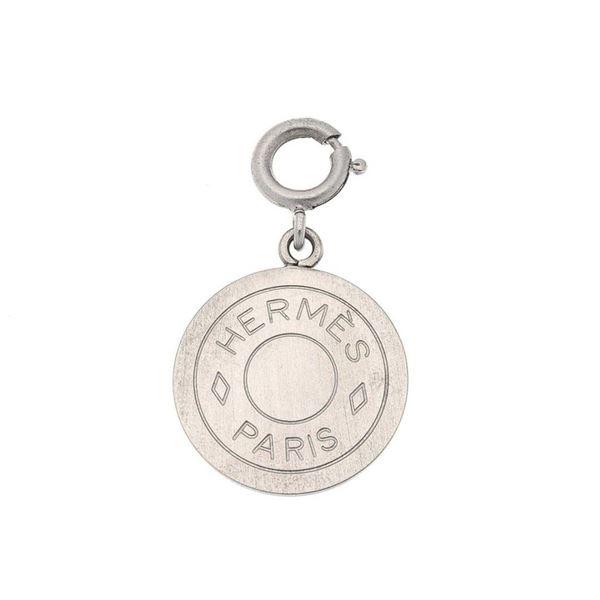 Hermes Silver Clou de Selle Pendant