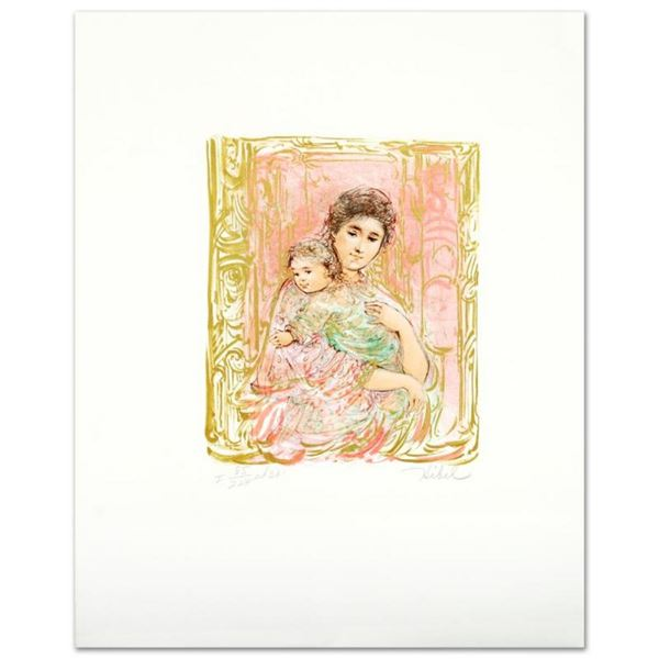 """Willa And Child"" Limited Edition Lithograph by Edna Hibel (1917-2014), Numbered"