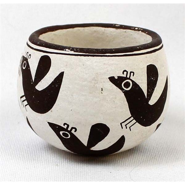 Acoma Miniature Pottery Bowl by Emma Lewis