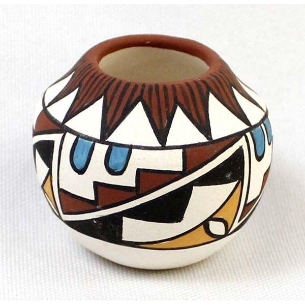 Acoma Miniature Pottery Bowl by V. Fryar