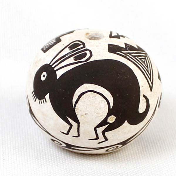 Miniature Acoma Pottery Seed Jar by B. J. Cerno