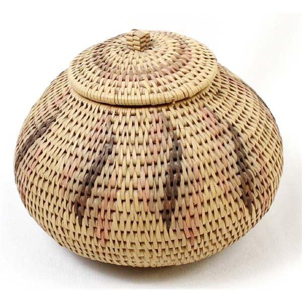 African Lidded Zulu Basket by Agnes Jele