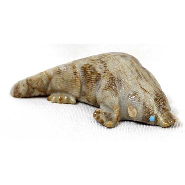 Zuni Picasso Marble Platypus Fetish by H. Sandy