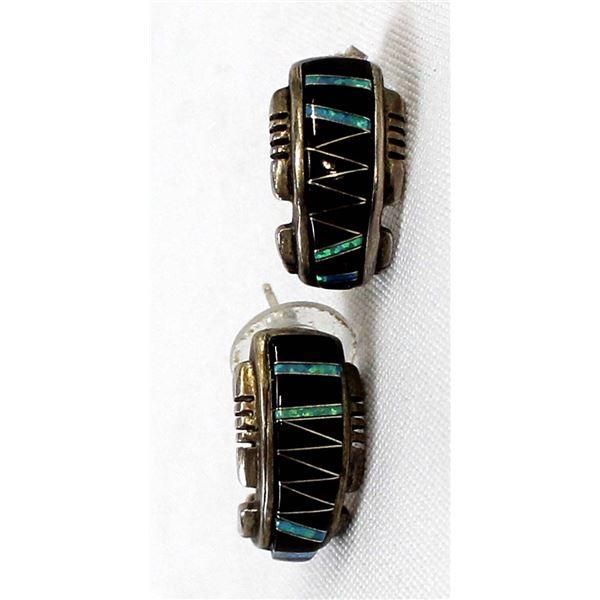 Native American Zuni Sterling Earrings
