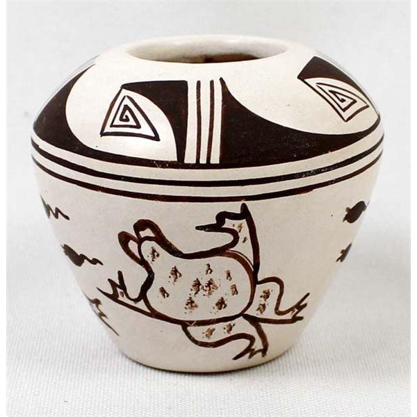 Hopi Frog & Tadpole Pottery Jar, Harrison Jim, Jr.