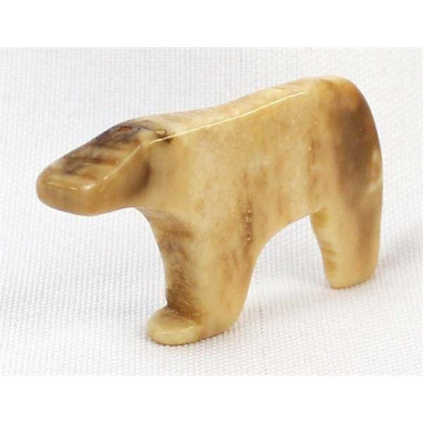 Vintage Northwest Coast Ivory Polar Bear Fetish