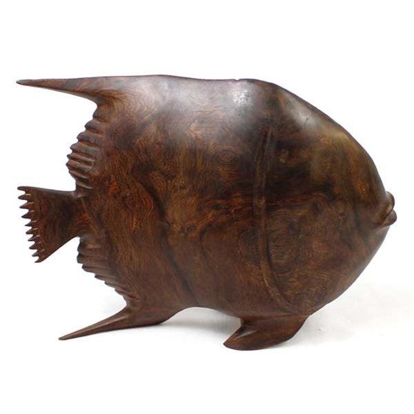 Ironwood Angelfish Carving