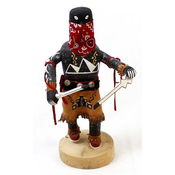 Navajo ''Apache Devil Dancer'' Kachina by S. Lee