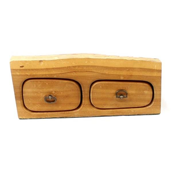 Western Post Holes Hand Crafted Wood Trinket Box