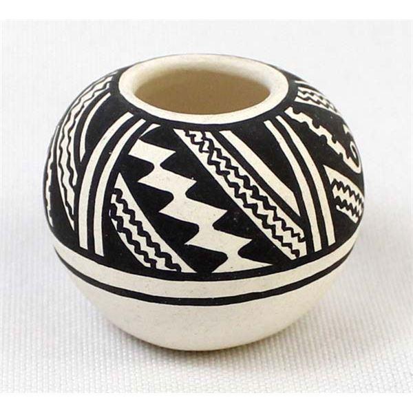 Miniature Mimbres Designed Pottery Jar