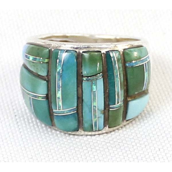 Sterling Turquoise Ring, Size 7