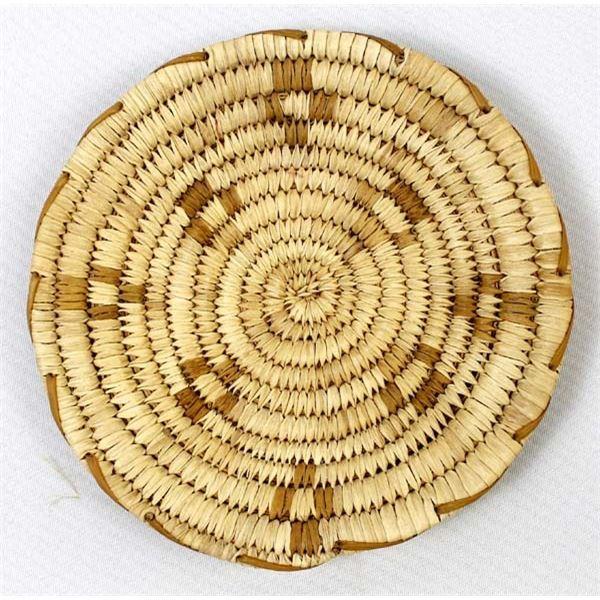 Native American Tohono O'odham Flat Basket