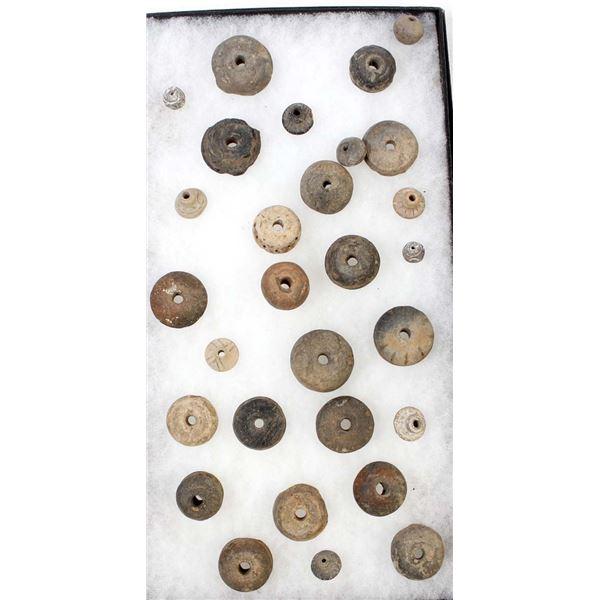 PreColumbian Pottery Whorls and Beads