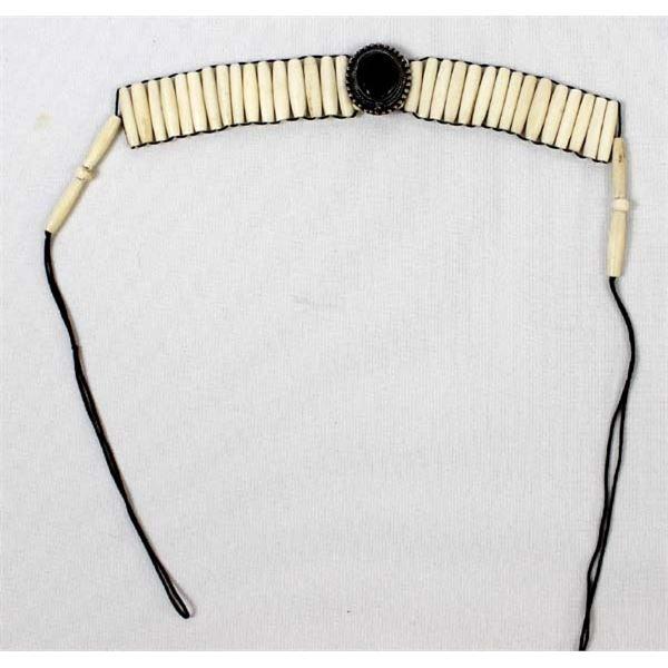 Bone Choker with Stone Cabochon Pendant