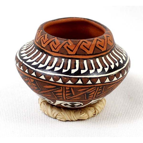 Miniature Native American Pottery Bowl by Bogulas