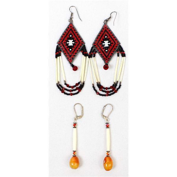 2 Pair of Native American Earrings