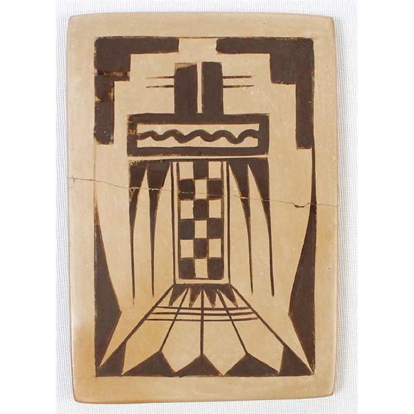 Vintage Hopi Pottery Tile by Lilian Namingha