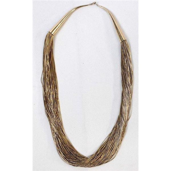 Navajo 12K Gold Filled Liquid Silver Necklace