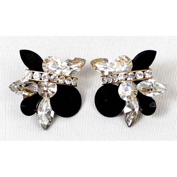 Vintage Estate Rhinestone Pierced Earrings