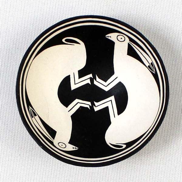 Mimbres Designed Double Rabbit Bowl