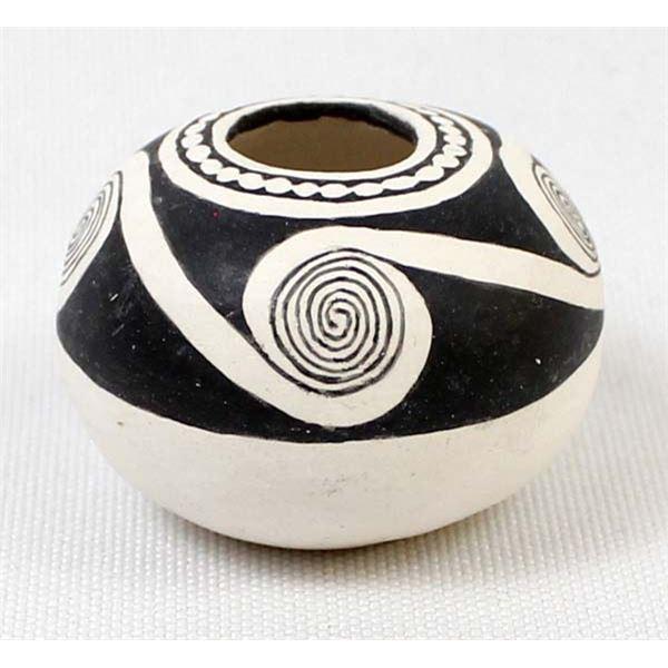 Miniature Anasazi Black on White Pottery Replica
