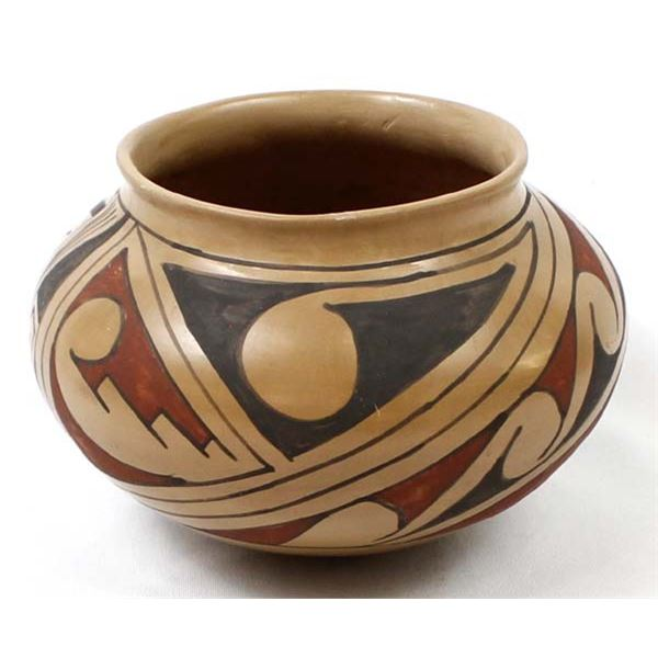 Vintage Mata Ortiz Polychrome Pottery Bowl