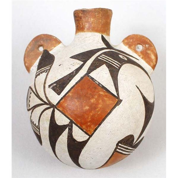 Historic Native American Acoma Pottery Canteen