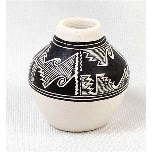 Anasazi Miniature Black on White Pottery Replica