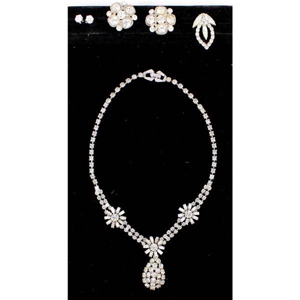 Set of Vintage Rhinestone Jewelry