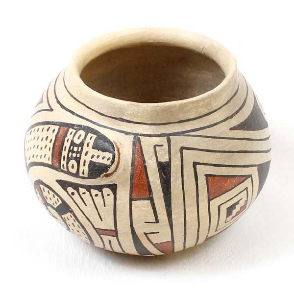 Vintage Casas Grandes Polychrome Snake Bowl