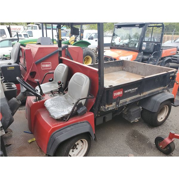 2011 TORO WORKMAN HDX - D, WITH DUMP, RED, VIN # 311000533