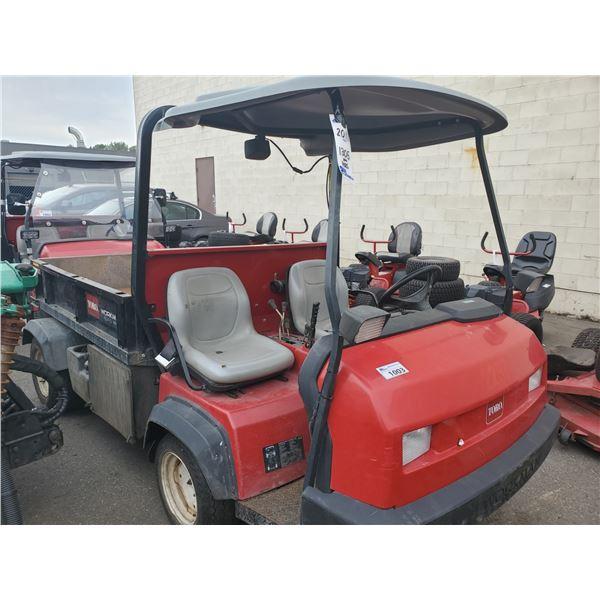 2011 TORO WORKMAN HDX-D 4WD, DUMPER, RED, DIESEL, VIN # 311000194
